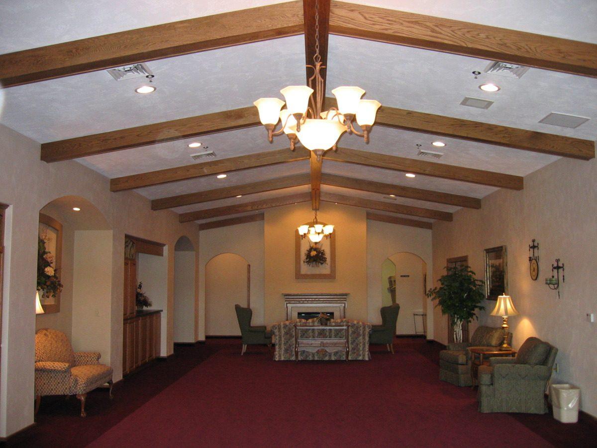 Wieting funeral home keller builds for Interior design kiel